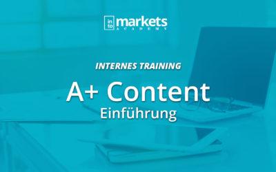 INTERN – A+ Content Einführung